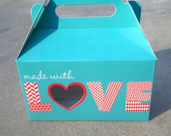 Gourmet Dog Treats - Made with Love Tote - Vegetarian All Natural Gift Boxed Valentines Day - Shorty's Gourmet Treats
