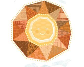 Here Comes The Sun Fine Art Print