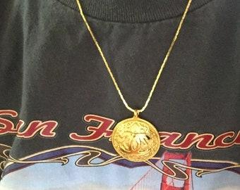 Authentic Chanel Round Pendant