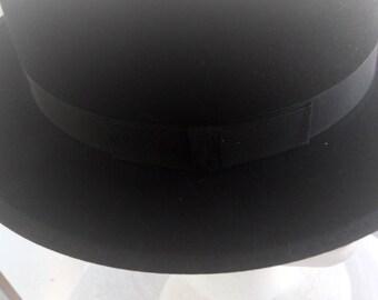Sale..............NEW Vintage Authentic Flying EAGLE Narrow Brim  Amish Mens Black FELT  Hat