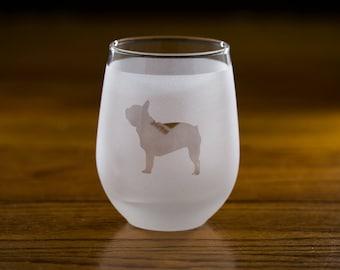 French Bulldog Custom Wine Glass Set