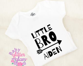 Little Brother Shirt, Baby Brother Personalized, Little Bro Big Bro, Little Brother Outfit, Baby Brother Shirt, Sibling Outfit