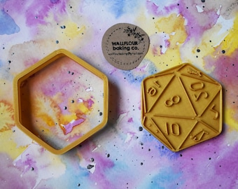 d20 Die Cookie Cutter // 2 Sizes //
