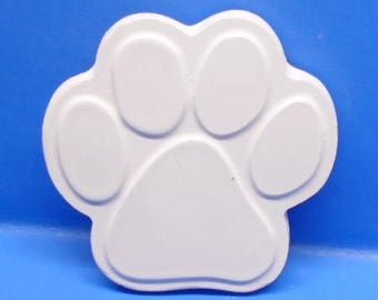 Ready To Paint/DIY/Plaster/ChalkWare/PlasterCraft Flat Back Magnet Large Paw Print #539