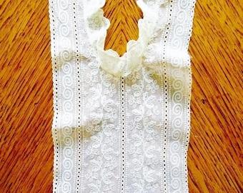 Antique Lace Bodice; Antique Bodice, Antique Chemical Lace/Schiffli Lace Bodice, Chemical Lace, Schiffli Lace