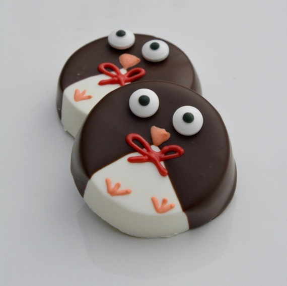 Chocolate covered oreo penguins 12 chocolate baby shower like this item negle Image collections