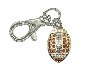 Football Zipper Pull - Football Gift - Zipper Pull - Jacket Zipper Pull - Gym Bag Zipper Pull - Purse Zipper Charm - Football - Keychain