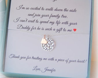 Step daughter gifts from Bride, step daughter necklace, gift for step daughter, Gift boxed jewelry, to step daughter from bride