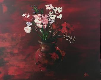 Acrylic flowers in vase
