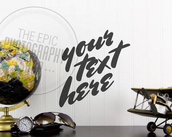 Styled Stock Photography / Staged Photography / Product Background / Header / Aviation Plane Globe Airplane / AR006
