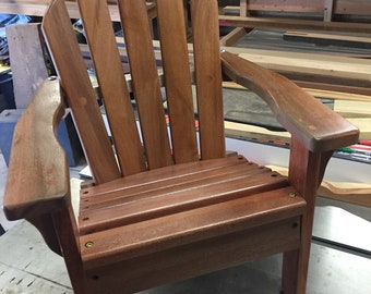 Reclaimed Mahogany Kids chair, Baby Shower gift, Childs chair, Adirondack with personalized name, children's furniture