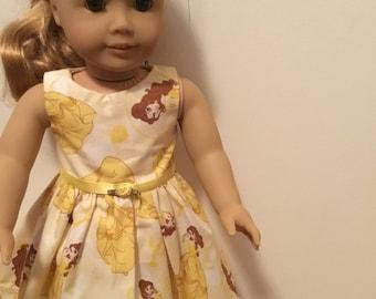 Disney princess Belle dress for 18 inch dolls