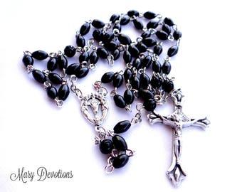 Eucharist Black Cocowood Rosary