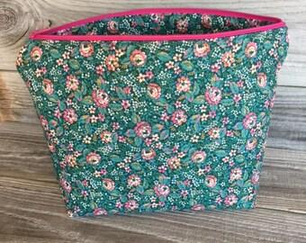 Cosmetic Bag, Zippered Bag, Zippered Pouch, Makeup Bag, Makeup Pouch, Bag