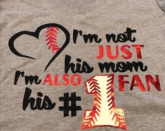 Womens mom tshirt baseball tball