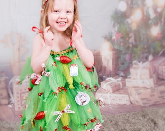 Holiday Favorite! * Portrait Costume Pageant * Christmas Tree Tutu Set  ' All Spruced Up '  size 12 mths - 12 yrs