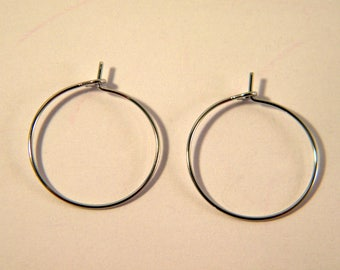 4 rings holders / platinum silver hoop 20 mm AB