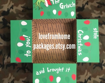 Grinch Stole Christmas Care Package Flap Kit