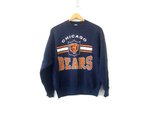 1995 Chicago Bears Sweatshirt Navy Blue Vintage NFL Football Sweater Illinois Sports Baggy 90s sweatshirt size Large