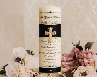Gold Memorial Candle Memory Candle Personalized Wedding Memorial Candles Remembrance Candle Personalized Memorial Candle