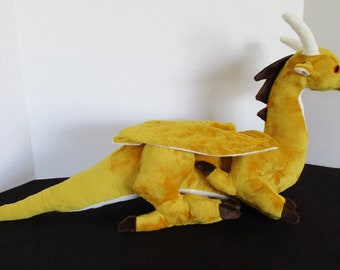 Large Gold Western Dragon