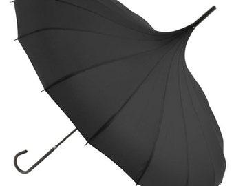Pagoda Umbrella, wedding parasol, wedding umbrella, bridal umbrella, rainy day,  Wind resilient, strong umbrellas. Great for photo shoots