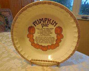 Pumpkin pie  Plate Royal China Jeannette Pie Plate Pie Dish