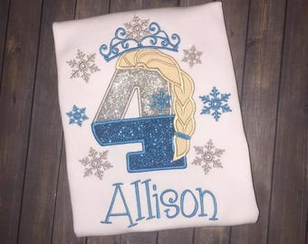 Personalized Frozen Inspired Birthday Shirt