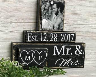 Wedding gift ideas etsy wedding gift wedding gift ideas wedding present custom sign bridal shower gift negle Image collections