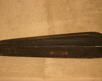 Antique Wood Coffin Style Violin Case