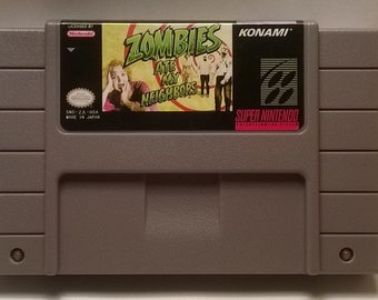 Zombies Ate My Neighbors Generic Super Nintendo SNES Game Cartridge - 16-bit cart Reproduction