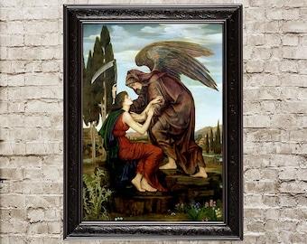 Angel of Death, Death reaper, scythe, Death scythe, dark angel, dark picture, gothic home decor, gothic painting, goth wall art, gothic, 383