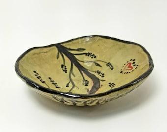 Wabi sabi Smudge bowl, Ceramic alter bowl, Pottery cleansing bowl, Incense pot, Handmade smudge pot, Ritual bowl, Offering bowl