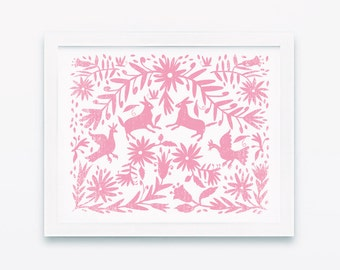 Otomi, Mexican otomi, Wall prints, Nursery wall decor, Nursery wall art, Laundry room decor, Printable wall art, Otomi print