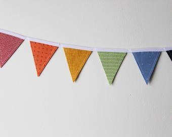 Rainbow Mini Fabric Bunting