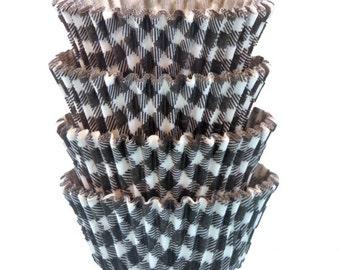 Black Gingham Baking Cups - Standard Size