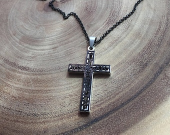 Wooden Crucifix necklace Catholic jewelry jewelry for men
