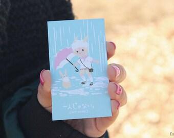 not alone nikusagi bunny magnet featuring gijinka niku
