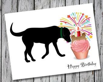 Labrador Retriever Birthday Card - Big Max Birthday Cards
