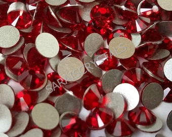 50 pcs Swarovski Crystal Flatbacks Siam 20ss Xilion Enhanced 2058