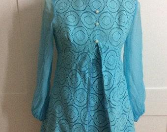 1960's Turquoise Dress TLC