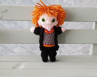Crochet cuddle toy Ron Weasley from Harry Potter