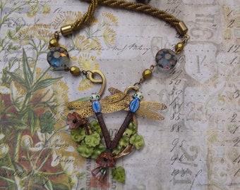 Art Nouveau Style Dragonfly Necklace