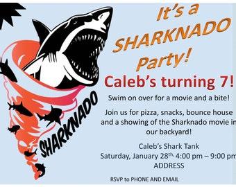 Custom Sharknado Invitations