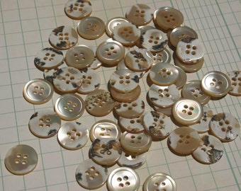 """Shell Buttons - Four Holes Sewing Bulk Button - 5/8"""" Wide"""