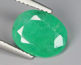 2.00 Ct Natural Zambia Green EMERALD