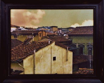Lucca Rooftops * photography * framed art * wall art * Lucca * Italy * travel art