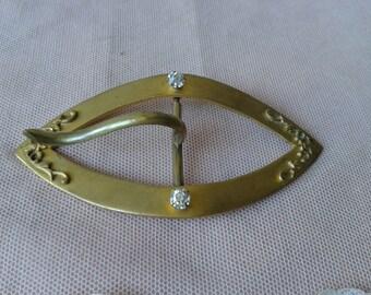 "Very pretty of belt, former, brass buckle, period ""Art Nouveau""."
