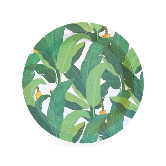 sc 1 st  Etsy & Dessert Plates Tropical Leaf Cake Plates 7 Jungle
