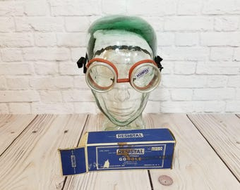 Vintage Resistal Non Shatterable Goggles In Original Box